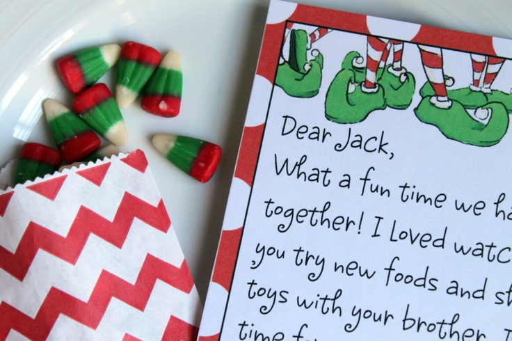 Elf on the shelf printable letter template to create