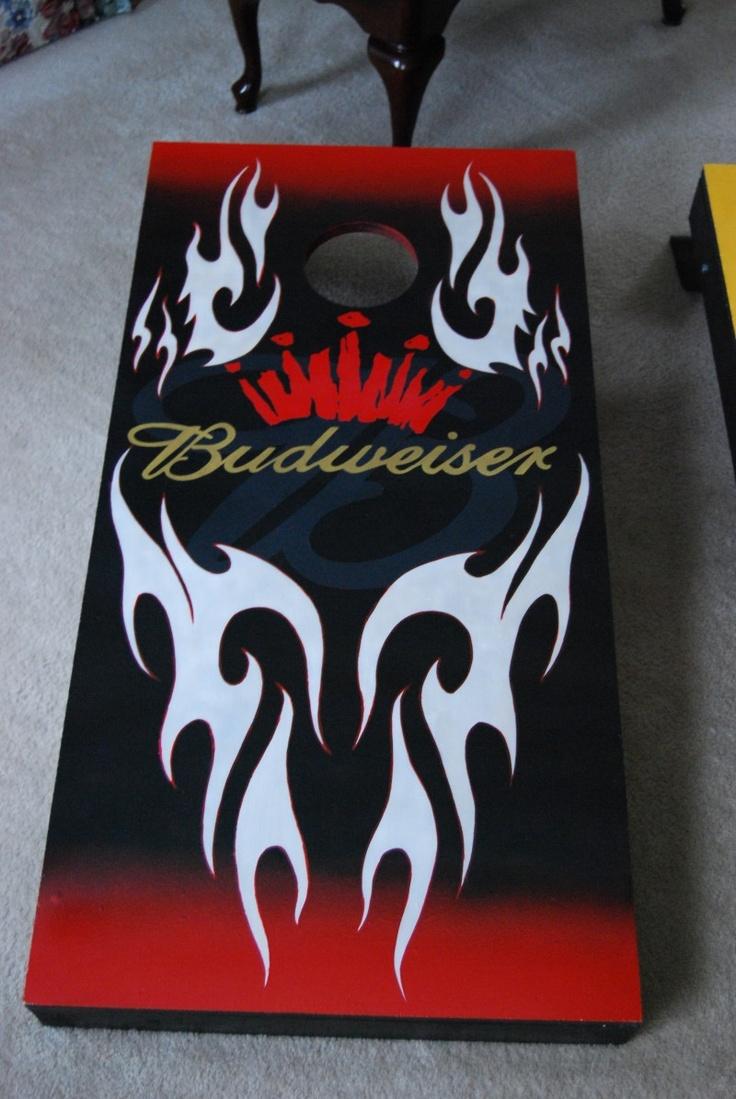 My Cornhole Sets, Hand Painted/Airbrush Budweiser