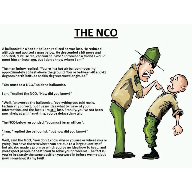 The NCO. Army humor. Army stuff Pinterest The army