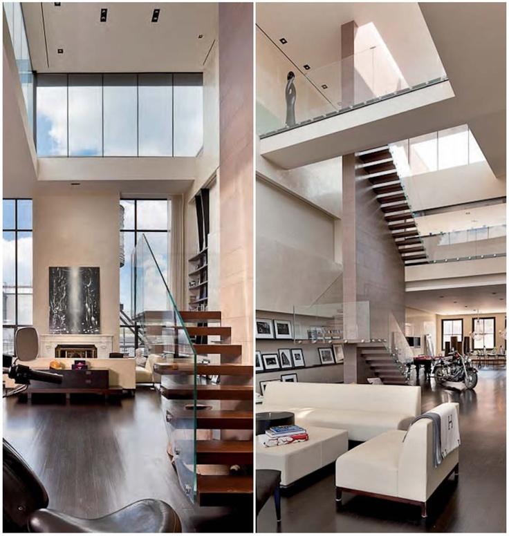 New York Loft Wsuper Light Stairs Architecture