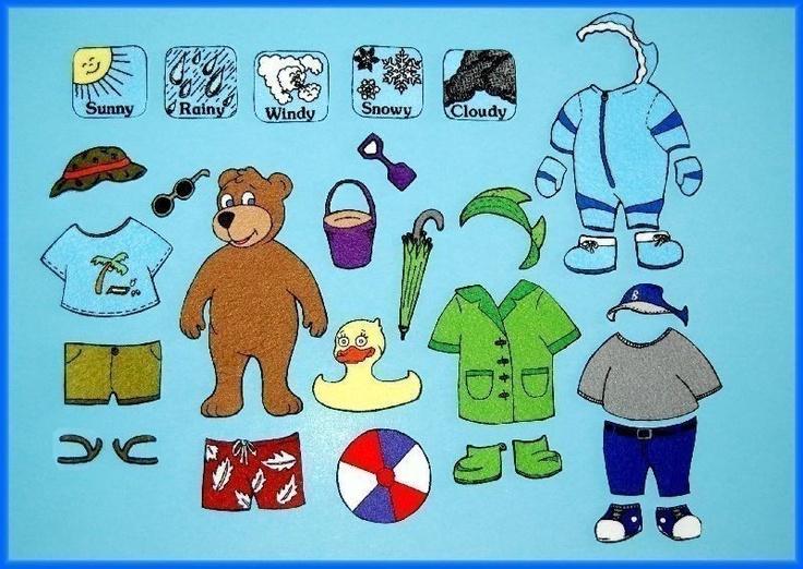 Mr. Weather Bear Dress Up Felt Board Set / Felt Paper