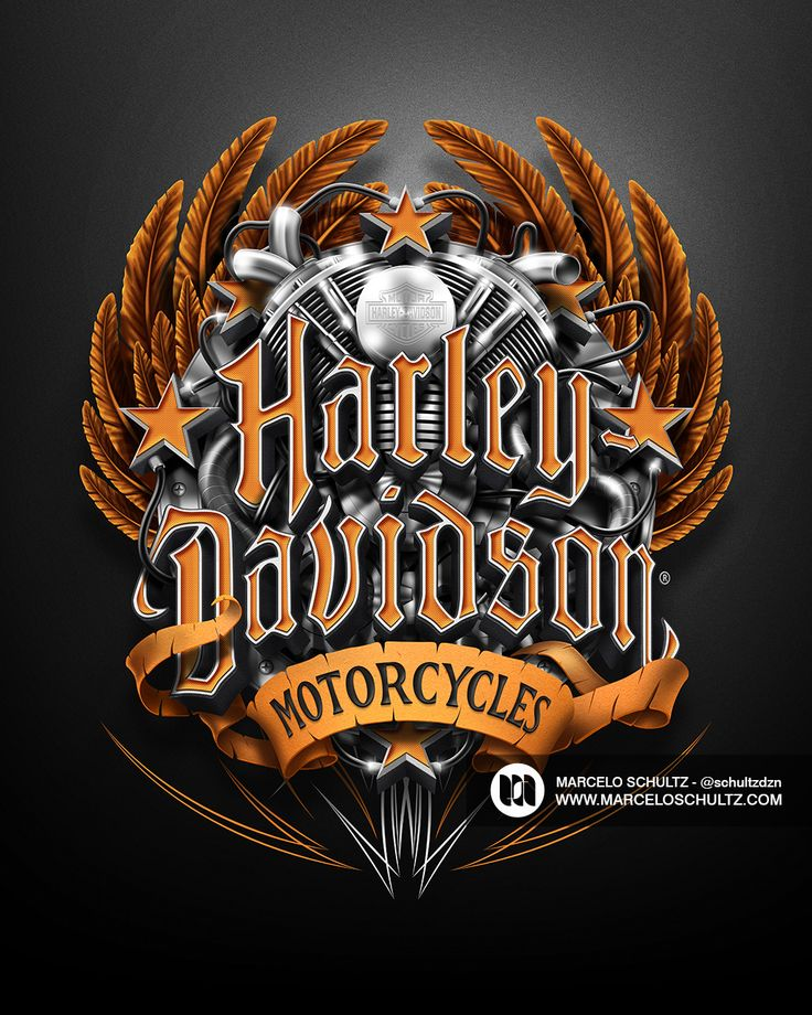 HarleyDavidson Designs on Behance Typography