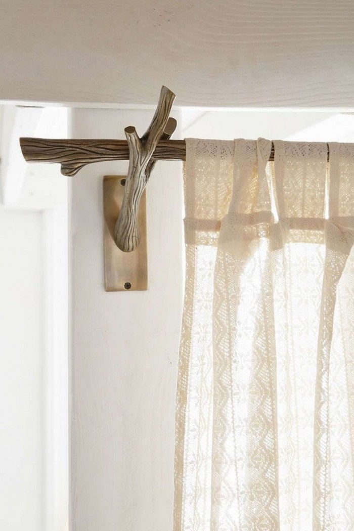 1000 Ideas About Rustic Curtain Rods On Pinterest