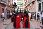 Banda de Cabecera del Santo Entierro por la calle Yanguas Messía, momentazo de esta Semana Santa de Linares 2015