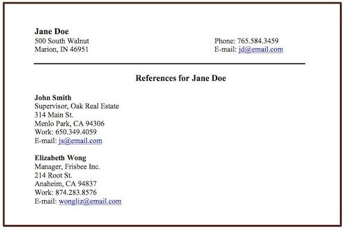 references in resume volumetrics co