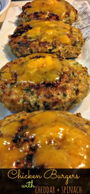 Chicken Burgers with Spinac