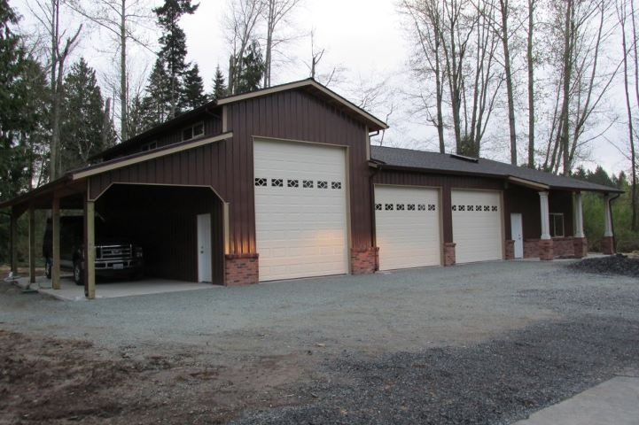 Garage/RV/Office combo in Snohomish, WA. Constructed by