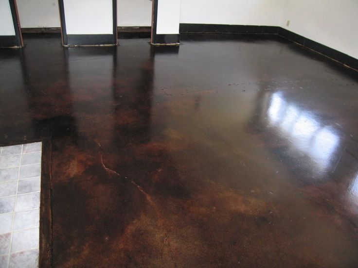 Dark Concrete Stained Floor This Is What I Want To Do To My Screened In Patio Projects I Am