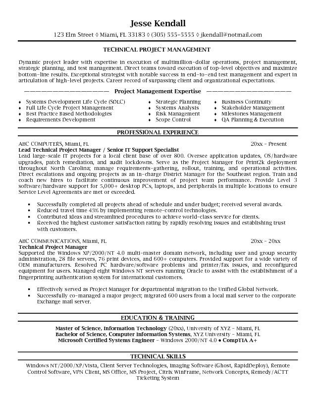 1000 ideas about project manager resume on pinterest project