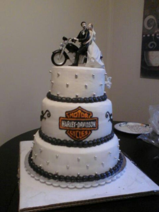 17 Best Images About Harley Wedding Cakes On Pinterest