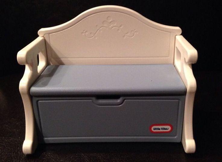 Vintage Little Tikes Grand Mansion Blue Victorian Toy Box
