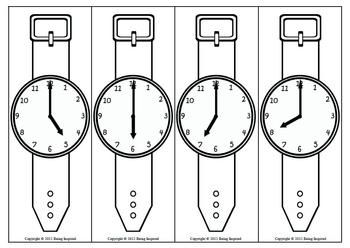 Your class will love this fun activity to practice telling time to the hour and half hour. Each child is given a paper wrist watch