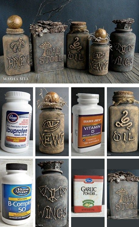 Using Recycled Bottles As Halloween Props. Pick Your Poison.