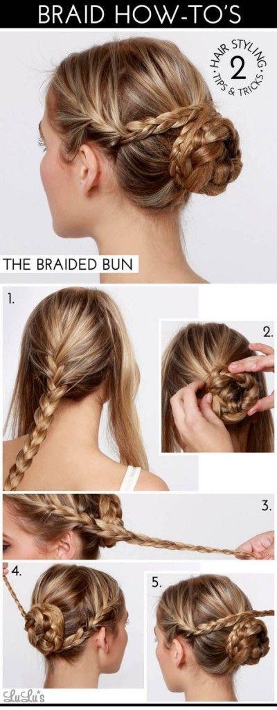 17 Best Ideas About Cute Bun Hairstyles On Pinterest