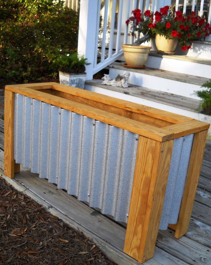 DIY Corrugated Steel + Wood Planter Box Home is Heaven