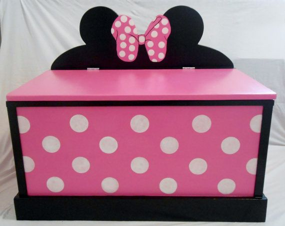 Minnie Mouse Toy Box By SassySisterStuff On Etsy 22000
