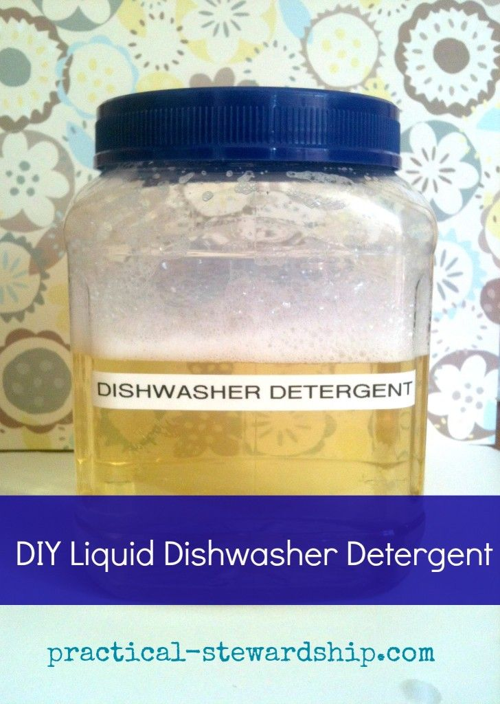 Getting Rid of Toxic Chemical in My House: 3 Ingredient Liquid Dishwasher Deterg