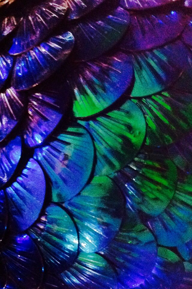 Purple Blue Green Scales Texture Background Wallpaper