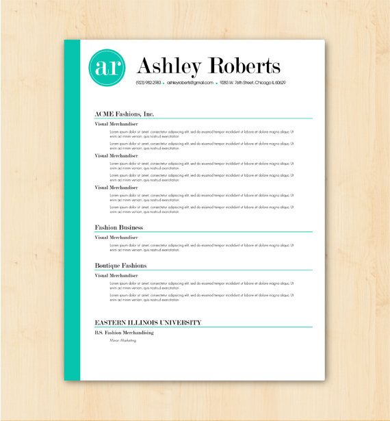 ashley roberts cv template and resume on pinterest