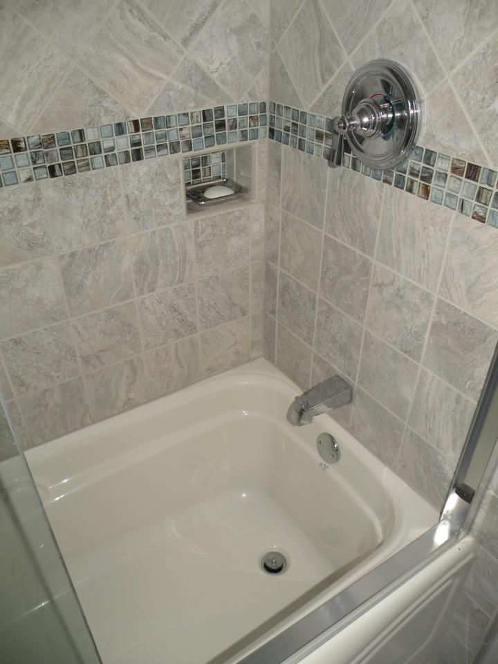 Deep Soaking Tub Surrounded With 6x6 Italian Porcelain