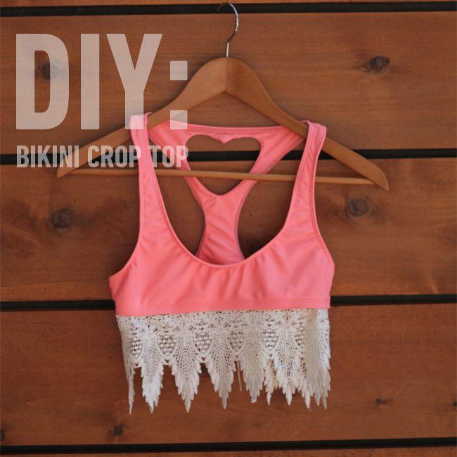 diy bikini crop top