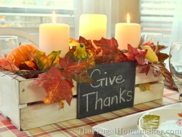DIY Thanksgiving Centerpieces - Easy Thanksgiving Centerpieces - Good Housekeeping: