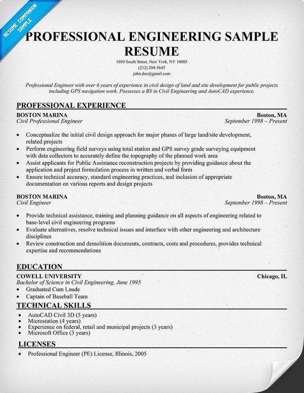 Professional Engineering Resume Sample Resumecompanion