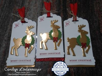 Carolyn's Card Creations: Stamp, Ink, Paper #66 – Christmas Tags