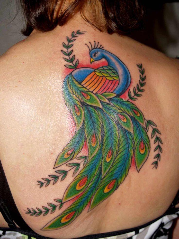 Big peacock tatoo on full hand for womens Tattoos