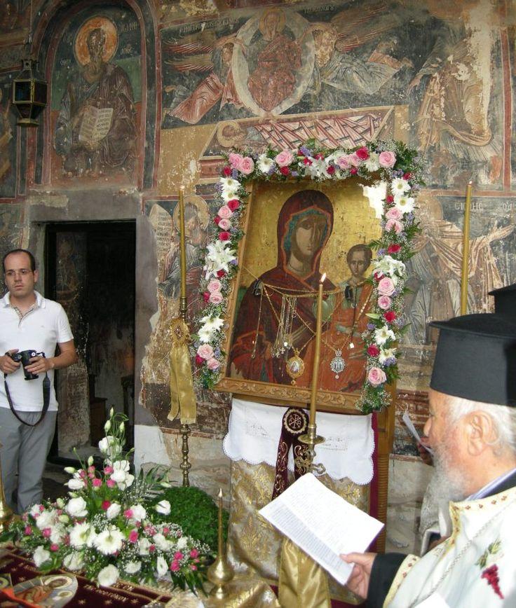 Miraculous icon of Panagia Mavriotissa at the Mavriotissa