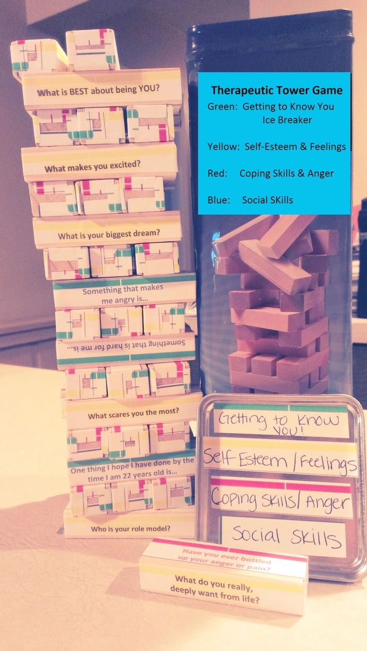 """schoolsocialworkerblog: """" I have searched and searched for printable """"Jenga"""" questions to use in social work sessions and"""