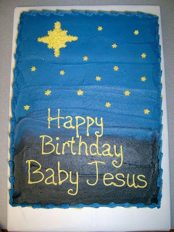 Happy Birthday Jesus Cake, Christmas Fun Foods & Creative