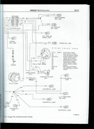 1967 mustang wiring to tachometer | Click image for larger