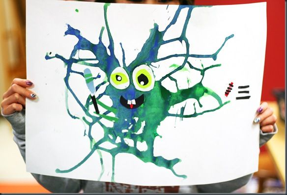 These blow paint monsters are genuinely amazing. I love this idea.