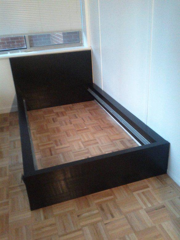 IKEA Twin Bed Frame Black Kid Stuff Pinterest