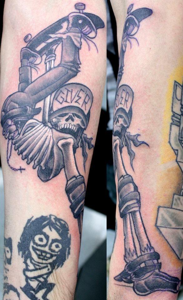 Skater Skeleton Tattoos by Joel Menter Pinterest