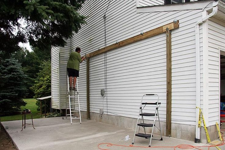 How To Build A Carport Attached To House Free Standing