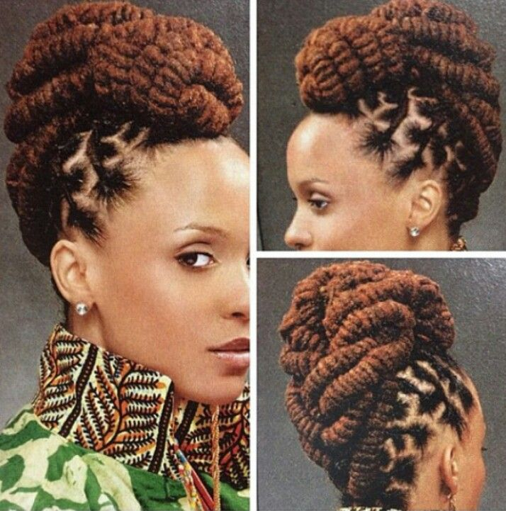 I love the three strand twists in an updo. Stylin'
