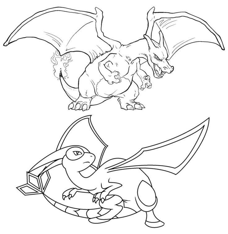pokemon charizard coloring pages  lineart pokemon