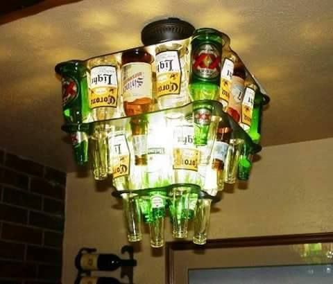 Find This Pin And More On Diy Beer Bottle Chandelier