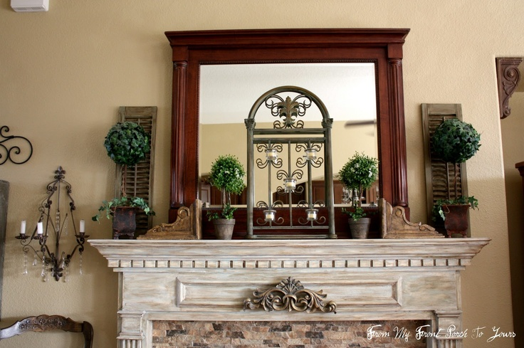 Pretty Mantle Love The Topiary Idea With Something Behind