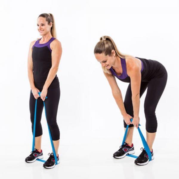 Resistance Band Workout: Perky Cheeks Deadlift – Resistance Band Workout: 7 Butt Exercises That Really Work – Shape