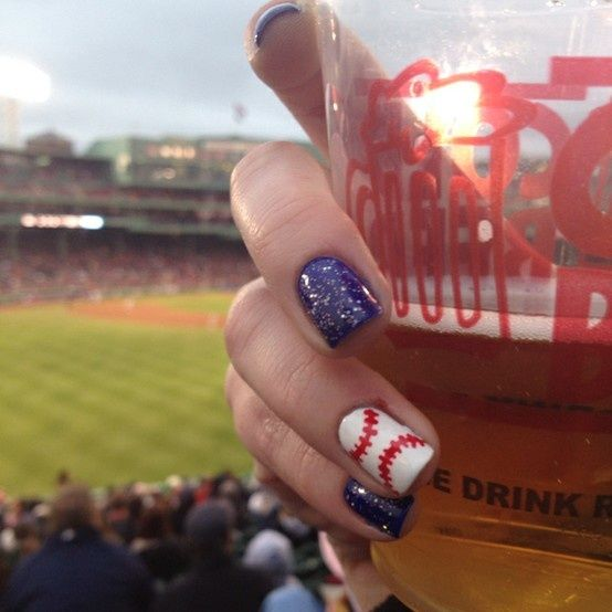 Baseball nails. Great for baseball fun