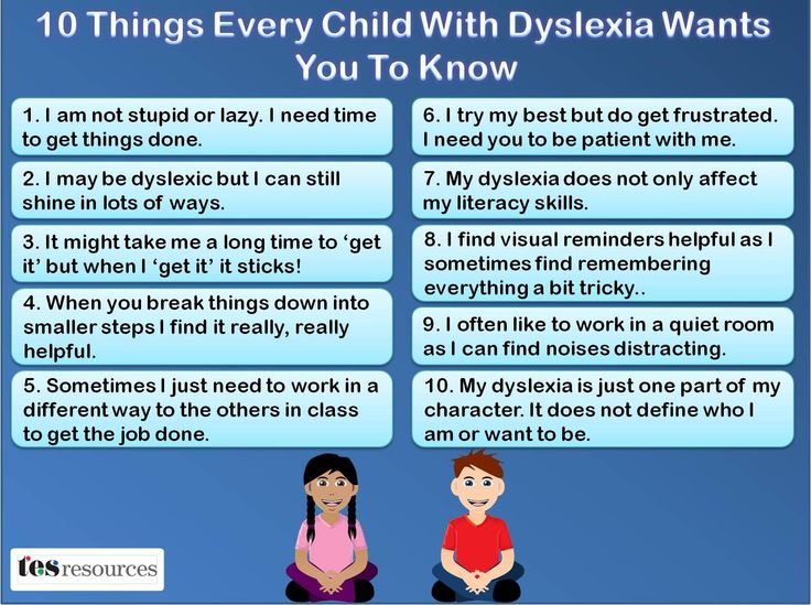 Dyslexia 10 things every child wants you to know