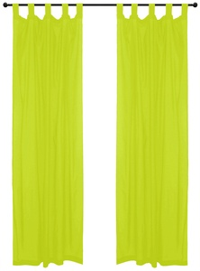 Lime Green Curtain