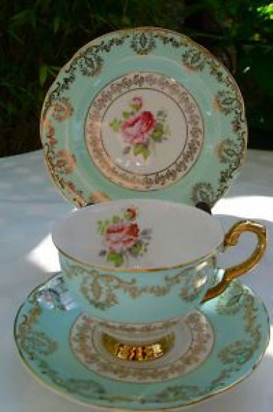 St, Leonards Burslem trio #Tea #cup & #Saucer:
