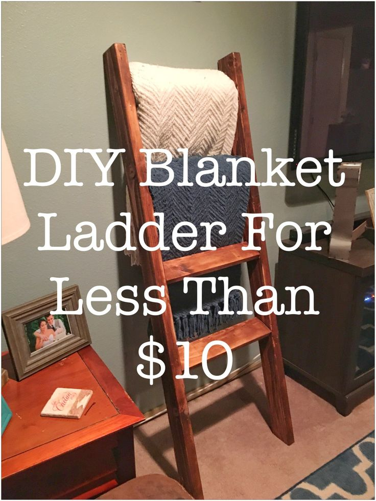 DIY Blanket Ladder For Less Than 10 DIY Home Projects