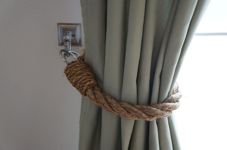 DIY Rope Tie Backs M A K E I T Pinterest Guest Rooms Ties And Showers