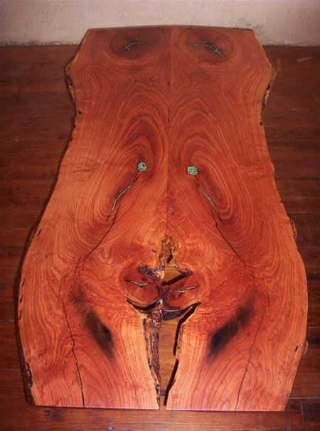 One Of A Kind Natural Edge Mesquite Table Natural Wood