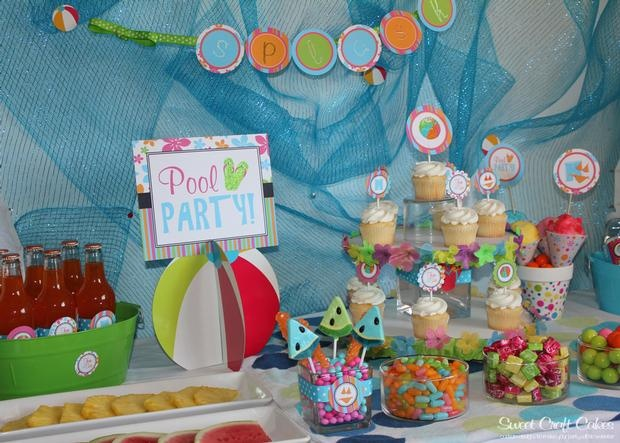 Pool Party Food And Beverage Table